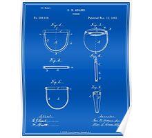 Purse Patent - Blueprint Poster