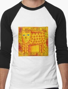Patterned Leopard Men's Baseball ¾ T-Shirt