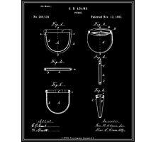 Purse Patent - Black Photographic Print