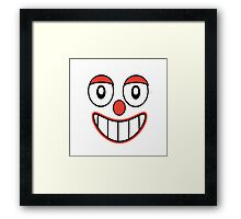 Happy Clown Cartoon Drawing Framed Print