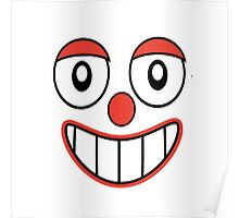Happy Clown Cartoon Drawing Poster