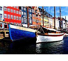 Boats at Nyhavn, Copenhagen. Photographic Print