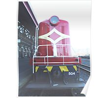 The Red Locomotive Poster