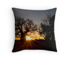 Boab sunset. Throw Pillow