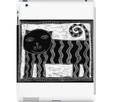 Black and White Stripey Cat iPad Case/Skin