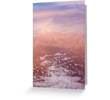 Sunset Clouds From Above Greeting Card