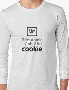 Atomic Symbol for Cookie Long Sleeve T-Shirt