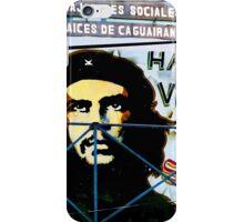 Artwork of Che on Trabajadores Sociales building, Vinales, Cuba iPhone Case/Skin