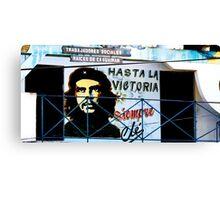 Artwork of Che on Trabajadores Sociales building, Vinales, Cuba Canvas Print