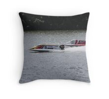 And we are racing Throw Pillow