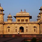 The Itmad-ud-Daula Tomb as the sun sets by John Dalkin