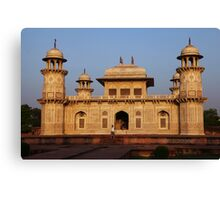 The Itmad-ud-Daula Tomb as the sun sets Canvas Print