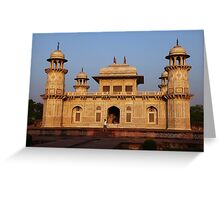 The Itmad-ud-Daula Tomb as the sun sets Greeting Card