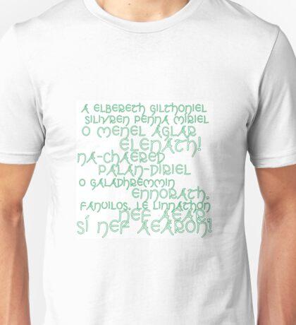 LotR A Elbereth Gilthoniel Unisex T-Shirt