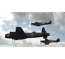 Lancaster, Spitfire, Hurricane Photographic Print