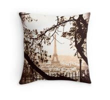 Paris Skyline from Sacre Coeur Throw Pillow