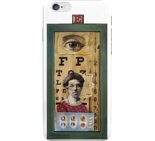 """The Eyes Have It"" - collage / assemblage / shadow box art iPhone Case/Skin"