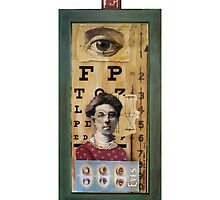 """""""The Eyes Have It"""" - collage / assemblage / shadow box art by LindaAppleArt"""