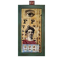 """""""The Eyes Have It"""" - collage / assemblage / shadow box art Photographic Print"""
