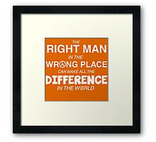Make a Difference Framed Print