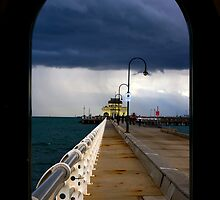 St Kilda beach Melbourne by Larry Varley