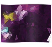 Multicolor Geometric Background 3 Poster