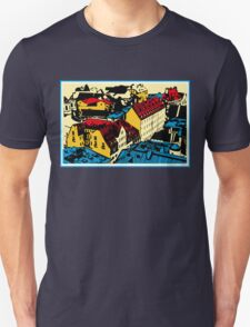 Old red roofs of the European city Unisex T-Shirt