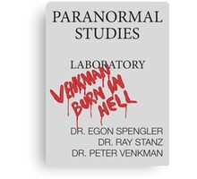 Paranormal Studies Laboratory - Ghostbusters Canvas Print
