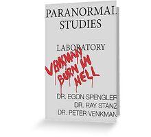 Paranormal Studies Laboratory - Ghostbusters Greeting Card