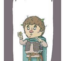 Bilbo Baggins White Background by Skulldixon