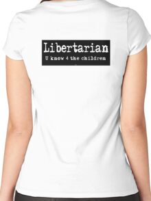 Libertarian Women's Fitted Scoop T-Shirt