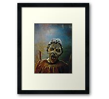 The Lonely assassin or weeping Angel Framed Print