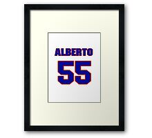 National baseball player Alberto Cabrera jersey 55 Framed Print
