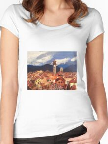 Lucca, Italy Women's Fitted Scoop T-Shirt