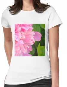 Pink Peony 9 Womens Fitted T-Shirt