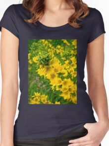 Small Yellow flowers Women's Fitted Scoop T-Shirt