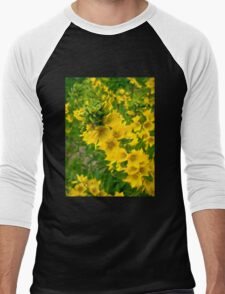 Small Yellow flowers Men's Baseball ¾ T-Shirt
