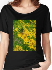 Small Yellow flowers Women's Relaxed Fit T-Shirt