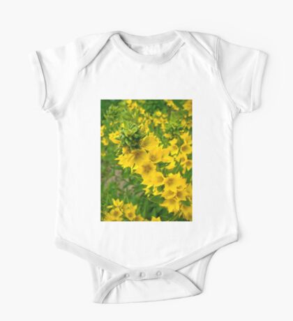 Small Yellow flowers One Piece - Short Sleeve