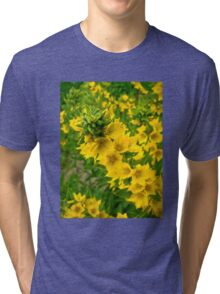 Small Yellow flowers Tri-blend T-Shirt