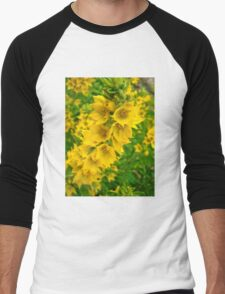 Small Yellow flowers 2 Men's Baseball ¾ T-Shirt
