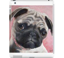 Bailey - Pug dog portrait animal painting iPad Case/Skin