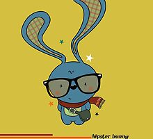 Hipster bunny by mangulica