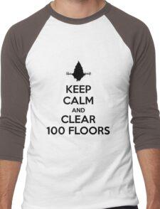 Keep Calm and Clear 100 Floors Men's Baseball ¾ T-Shirt