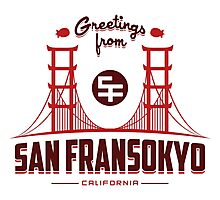 Greetings from San Fransokyo Photographic Print