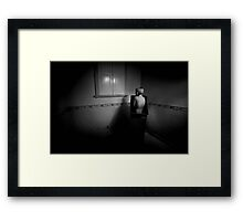 Born from the earth into isolation... Framed Print