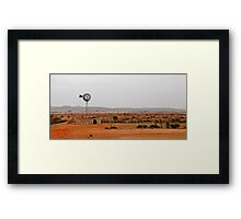 Outback windmill Framed Print