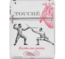 Fencing Touche Heart iPad Case/Skin
