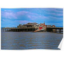 Birnbeck Pier with RNLI station Poster