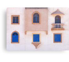 5 windows and a balcony Canvas Print